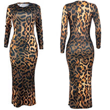 Load image into Gallery viewer, Foxy Lady Leopard Midi Bodycon (Plus Size Available)
