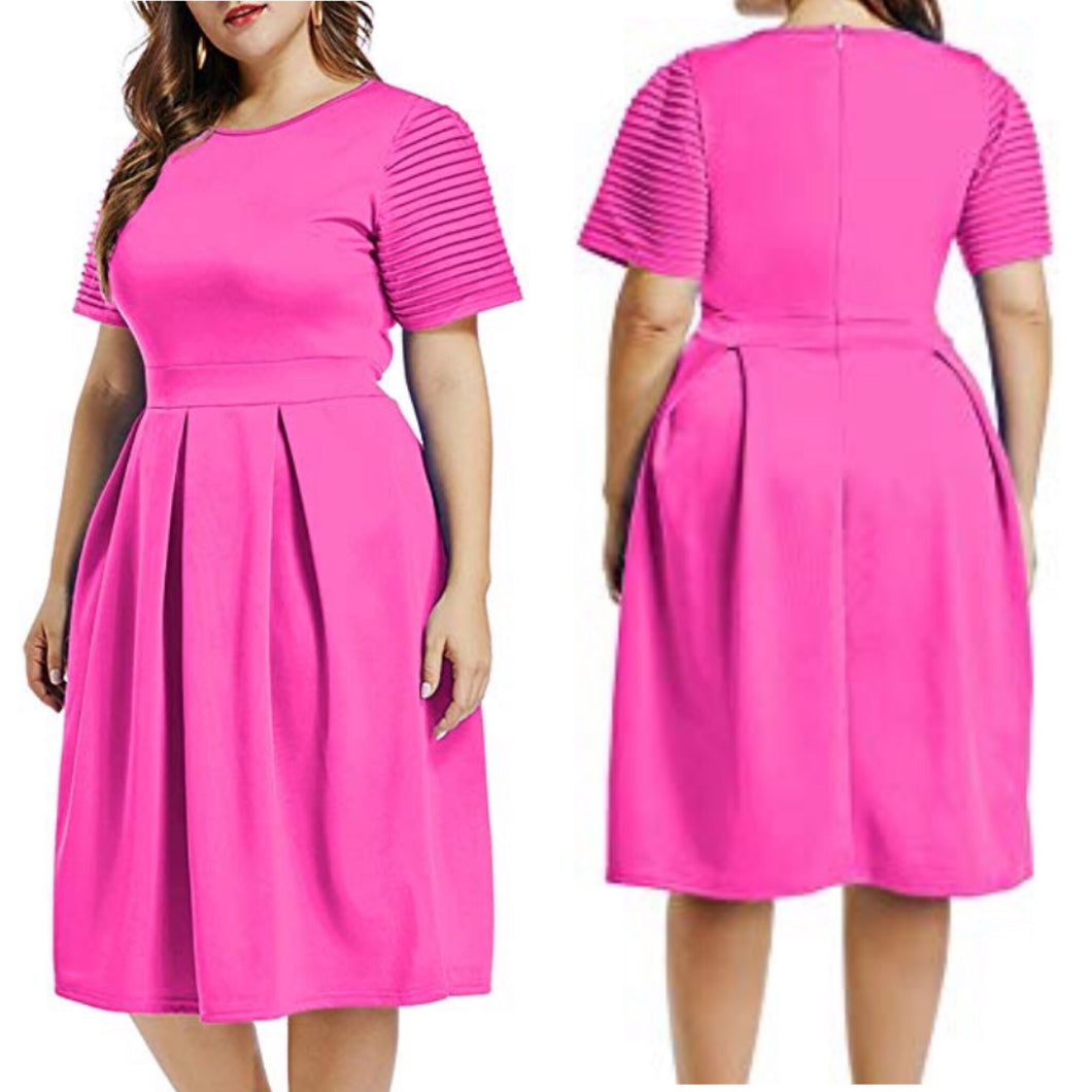 He is Risen Fit and Flare Dress (Plus Size)