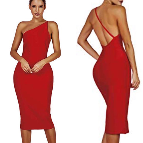 All Mine Bandage Midi Dress