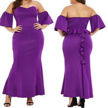 Load image into Gallery viewer, Peek a Boo Mermaid Maxi Dress (Plus Size)