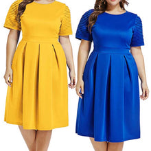 Load image into Gallery viewer, He is Risen Fit and Flare Dress (Plus Size)