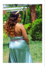 Load image into Gallery viewer, Queen of Spades Satin Halter Maxi (Plus Size Available)