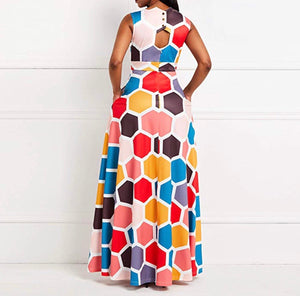 Perfect Angles Fit & Flare Maxi (Plus Size Available)