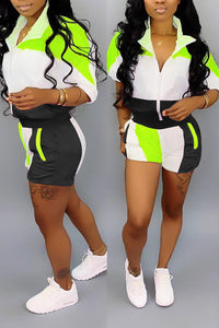 Athleisure Wind Breaker Short Set - Plus Size Only (Pre-Order)