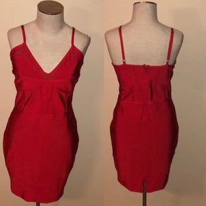 SLAY Consignment - Red Bandage Mini Dress