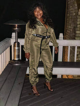 Load image into Gallery viewer, Khaki Boiler Babe Suit (Plus Size Available)