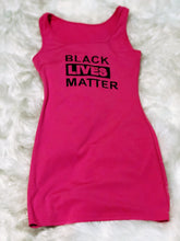 Load image into Gallery viewer, Black Lives Matter (BLM) Tank a Dress - Plus Size Available