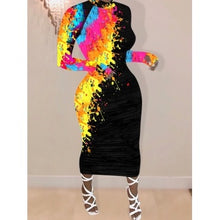 Load image into Gallery viewer, Graffiti Midi Bodycon (Plus Size Available)