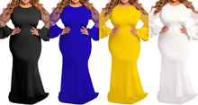 Load image into Gallery viewer, Truly Blessed Mesh Sleeve Maxi (Plus Size Available)
