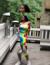 Load image into Gallery viewer, Pride Athleisure Tye-Dye Strapless Midaxi - Plus Size Available