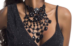 Lady of the Night Statement Necklace