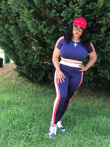 Athleisure 2pc Track Set - Plus Size Available