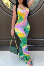 Load image into Gallery viewer, Tye Dye Ruching Jumpsuit - Plus Size Available (Pre-Order)
