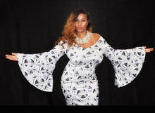 Load image into Gallery viewer, She Is Graceful Printed Bell Sleeve Maxi (Plus Size Available)