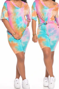 Athleisure Tye-Dye 2pc Short Set - Plus Size Available (Pre-Order)
