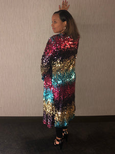 Grown Woman Multi-Sequin Cardigan