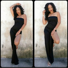 Load image into Gallery viewer, Beauty Strapless Jumpsuit w/ Split Legs