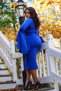 Classic Ruffle Sleeve Midi (Plus Size Available) *New