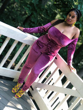 Load image into Gallery viewer, Velour Corset Jumpsuit (Plus Size Available)