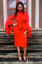 Load image into Gallery viewer, Classic Ruffle Sleeve Midi (Plus Size Available) *New