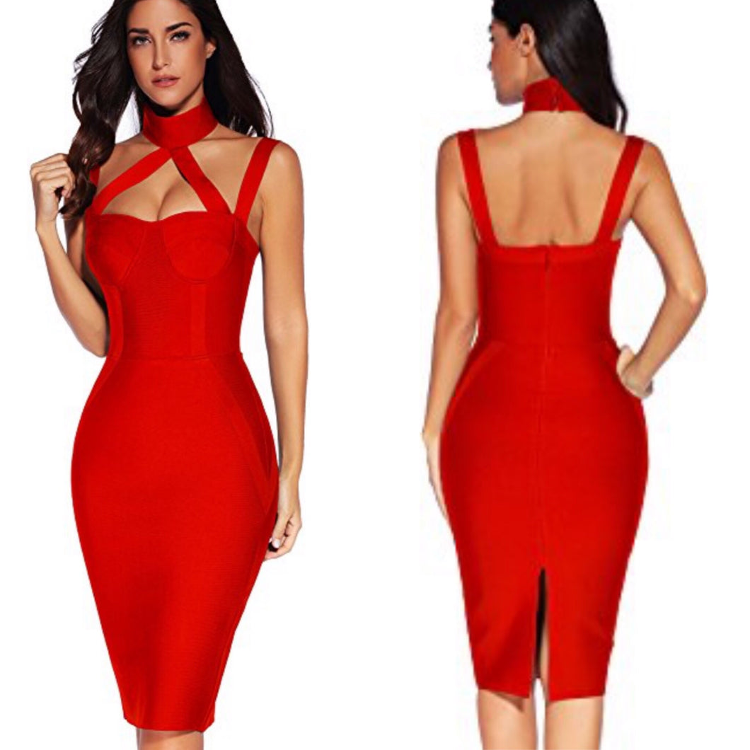 Sexy Valentine Bandage Mini Dress