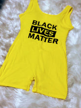 Load image into Gallery viewer, Black Lives Matter (BLM) Romper (Plus Size Available)