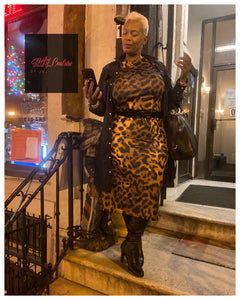 Foxy Lady Leopard Midi Bodycon (Plus Size Available)