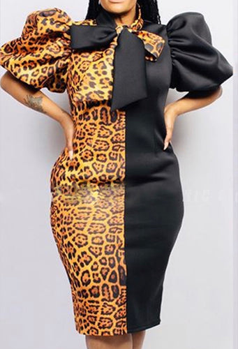 2-Way Jag Puff Sleeved Midi (Plus Size Only)