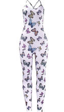 Load image into Gallery viewer, Butterfly Backless Jumpsuit