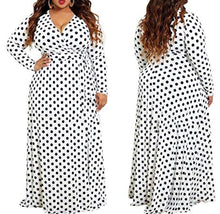 Load image into Gallery viewer, Polka Dot Maxi (Plus Size Only)
