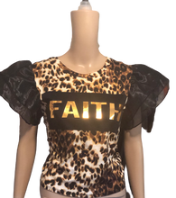 Load image into Gallery viewer, Faith Leopard Tee