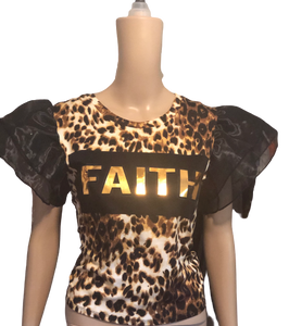 Faith Leopard Tee