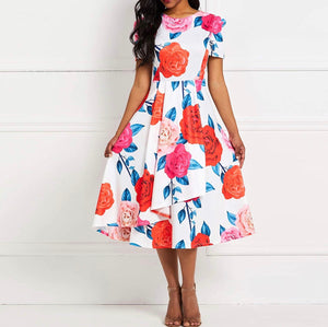 Flower Patch Fit & Flare (Plus Size Available)