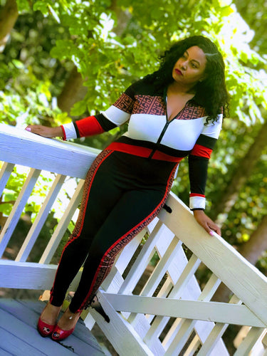 Fendi Inspired Jumpsuit (Plus Size Available)