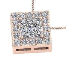 Load image into Gallery viewer, 14K-18k Rose Gold Halo Pendants-DP419