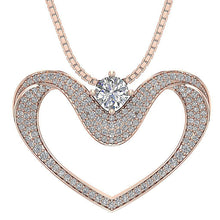 Load image into Gallery viewer, Prong Set Heart Pendants-DP195