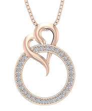 Load image into Gallery viewer, 14k/18k Rose Gold Prong Setting Pendants-DP422