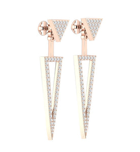 Stud Earring 14K-18k Rose Gold Prong Set-E-780-8