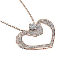 Load image into Gallery viewer, Rose Gold Prong Set Pendants-DP195