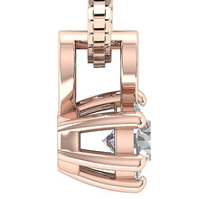 Load image into Gallery viewer, Solitaire Pendants I1 G 0.25Ct 14k/18k White Yellow Rose Gold Natural Diamonds Six Prong Set 4.10MM