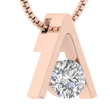 Load image into Gallery viewer, Solitaire Pendants I1 G 0.25 Carat 14k/18k Solid White Gold Round Cut Diamonds Bar Set Width 5.00MM