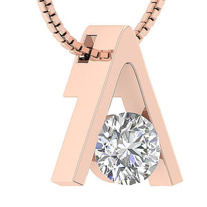 I1 G 0.50 Ct 14k/18k White Yellow Rose Gold Solitaire Pendants Round Cut Diamonds Bar Set 5.50 MM