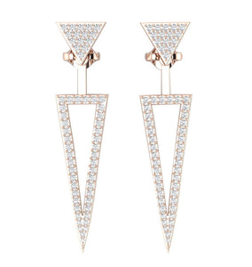 Prong Set 14K-18k Gold Studs Earring-E-780-2