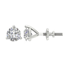 Load image into Gallery viewer, 14K-18k White Gold Earring-DST53