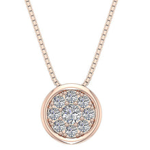 Load image into Gallery viewer, VVS1 E 1.00Ct Natural Round Diamond Love Cluster Pendants 14k White Yellow Rose Gold