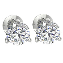 Load image into Gallery viewer, Solitaire Studs Earring 14K White Gold DST95-1.50