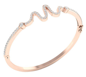 Round Diamonds Rose Gold Bangles-DBR20