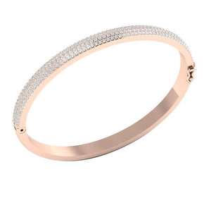 14K Rose Gold Diamonds Bangles-DBR21