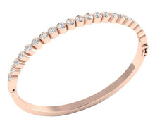 Load image into Gallery viewer, Diamond Bangles SI1/I1 G 1.85Ct Natural Diamonds 14k White Yellow Rose Gold Bezel Set