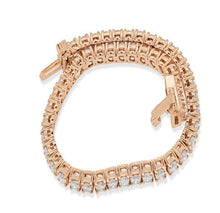 Load image into Gallery viewer, 4 Prong Tennis Bracelet Rose Gold-B-28-2